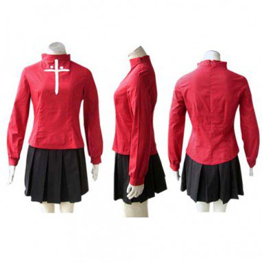Fate Stay Night Rin Tosaka Halloween Cosplay Costume