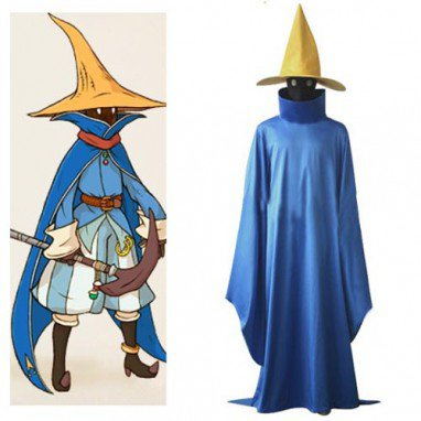 Final Fantasy Black Mage Halloween Cosplay Costume