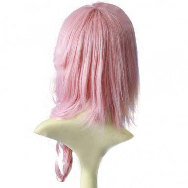Final Fantasy Lightning Pink 70cm Halloween Cosplay Wig