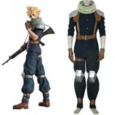 Final Fantasy VII Crisis Core Cloud Strife Halloween Cosplay Costume