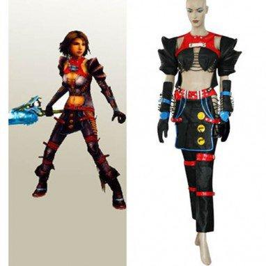Final Fantasy X-2 Warrior Yuna Halloween Cosplay Costume