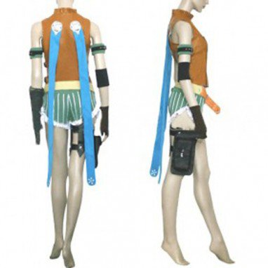 Final Fantasy X Rikku Halloween Cosplay Costume