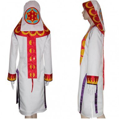 Final Fantasy XII Yuna White Mage Halloween Cosplay Costume