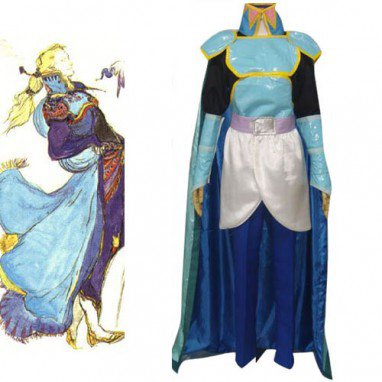 Finial Fantasy VI Edgar Roni Figaro Halloween Cosplay Costume