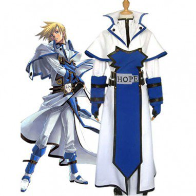 Guilty Gear Ky Kiske Halloween Cosplay Costume
