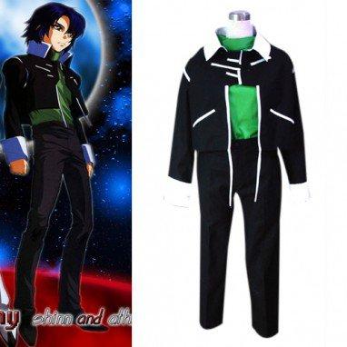 Gundam Seed Destiny Zala Green Halloween Cosplay Costume
