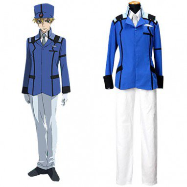 Mobile Suit Gundam 00 Union Uniform Halloween Cosplay Costume