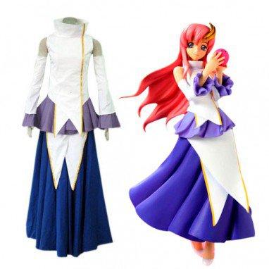 Unusual Gundam Seed Destiny Lacus Clyne Halloween Cosplay Costume