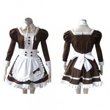 Classic Black Gothic Lolita Halloween Cosplay Costume