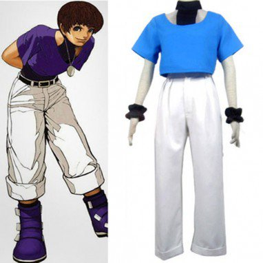 King of Fighter 97 Chris Halloween Cosplay Costume