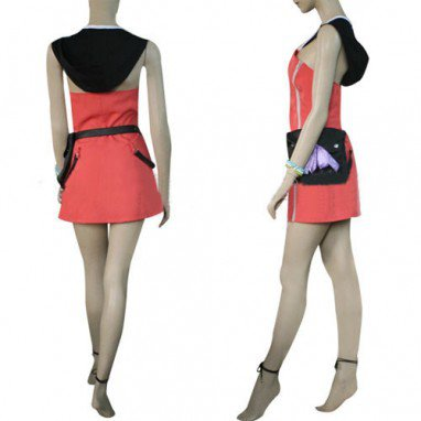 Kingdom Hearts Kairi Pink Dress Halloween Cosplay Costume