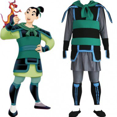 Kingdom Hearts Mulan Halloween Cosplay Costume