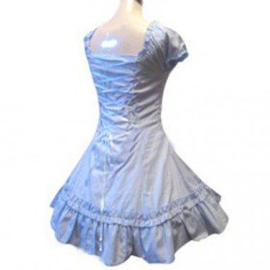 Classic Double Hemlines Blue Dress Lolita Halloween Cosplay Costume