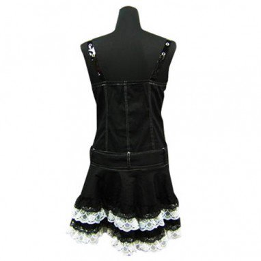 Cool Black Punk Lolita Halloween Cosplay Dress