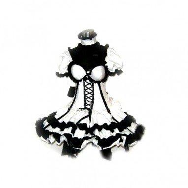 Haruhi Suzumiya Black Dress Lolita Halloween Cosplay Costume