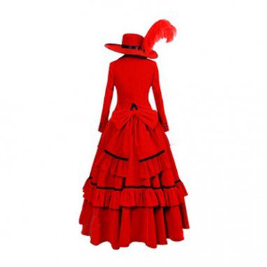 Kuroshitsuji Angelina Red Lolita Halloween Cosplay Costume