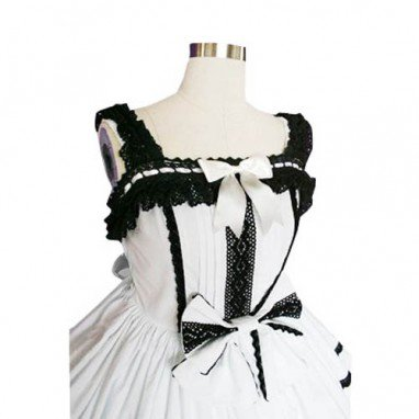 Lace Trimmed Gothic Lolita Halloween Cosplay Dress