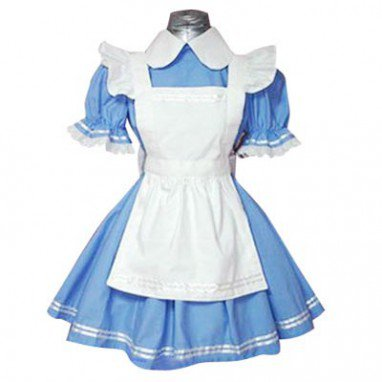 Maid Blue And White Lolita Halloween Cosplay Dress