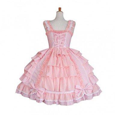 Multi Layers Bow Decoration Sweet Lolita Halloween Cosplay Dress