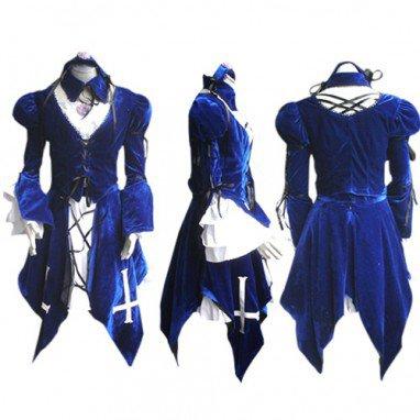 Rozen Maiden Mercury Lampe Lolita Halloween Cosplay Costume