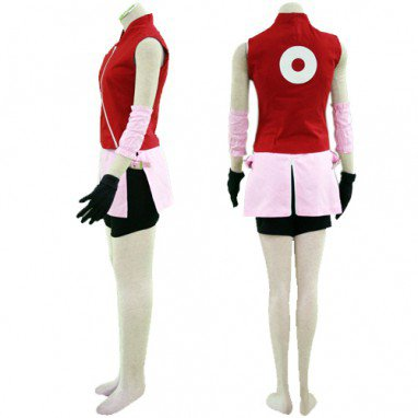 Naruto Haruno Sakura Deluxe Halloween Cosplay Costume