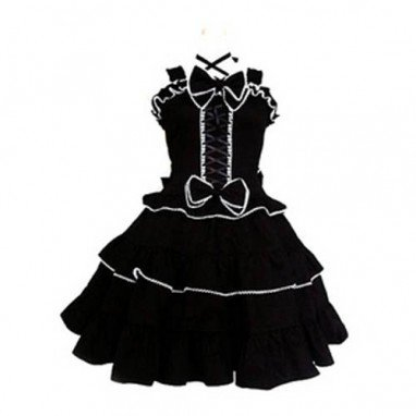 Tailor-made Black Gothic Lolita Halloween Cosplay Costume