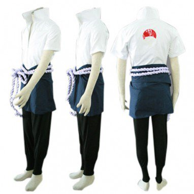 Popular Naruto Shippuden Sasuke Uchiha Men\'s Halloween Cosplay Costume
