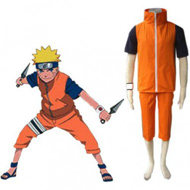 Unusual Naruto Shippuden Uzumaki Men\'s Halloween Cosplay Costume