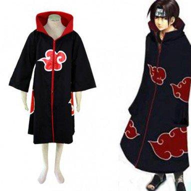 Cheap Naruto Akatsuki Itachi Uchiha Deluxe Men\'s Halloween Cosplay Costume
