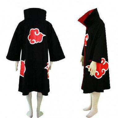 Classic Naruto Akatsuki Itachi Uchiha Deluxe Men\'s Halloween Cosplay Costume