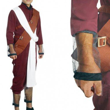 Superior Naruto Shippuden Gaara Red Men\'s Halloween Cosplay Costume