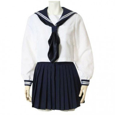 Ideal Suitable Deep Blue Long Sleeves School Uniform
