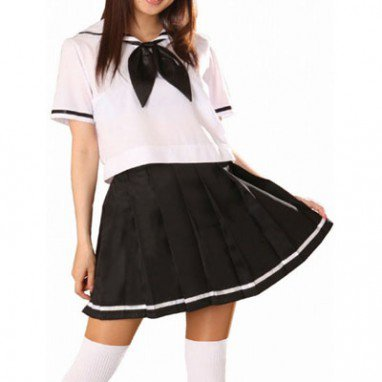 Superior Superior Short Sleeves Sailor School Uniform Halloween Cosplay Costume