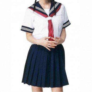 Top Short Sleeves Sailor School Uniform Halloween Cosplay Costume