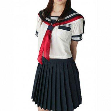 Unusual Short Sleeves Sailor School Uniform Halloween Cosplay Costume