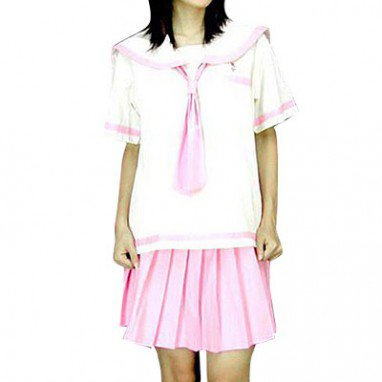 White And Pink School Uniform