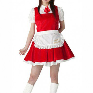 White Blouse And Red School Uniform Dress Halloween Cosplay Costume