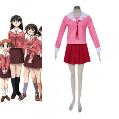 Azumanga Daioh Shool Uniform Winter Halloween Cosplay Costume