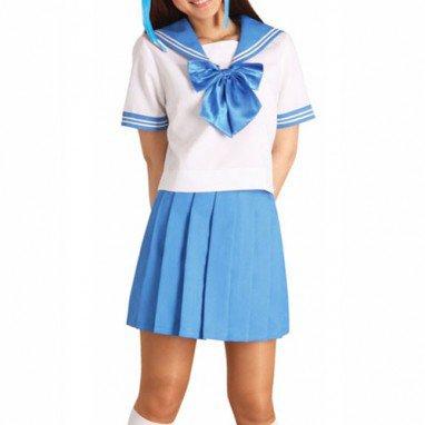 Classic Blue Short Sleeves School Uniform