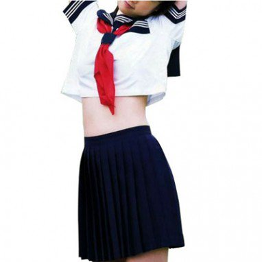 Ideal Perfect Short Sleeves Sailor School Uniform