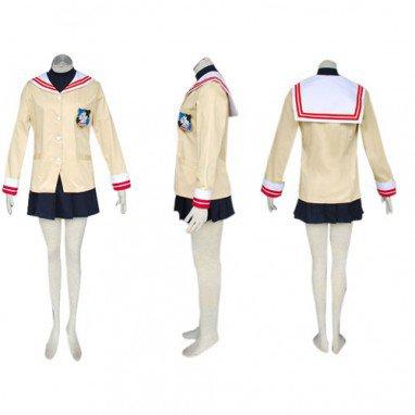 Long Sleeves School Uniform Clannad Halloween Cosplay Costume