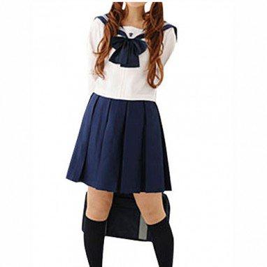 Superior Top Unusual Cheap Long Sleeves School Uniform Halloween Cosplay Costume