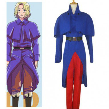 Axis Powers Hetalia Francis Bonnefoy Halloween Cosplay Costume