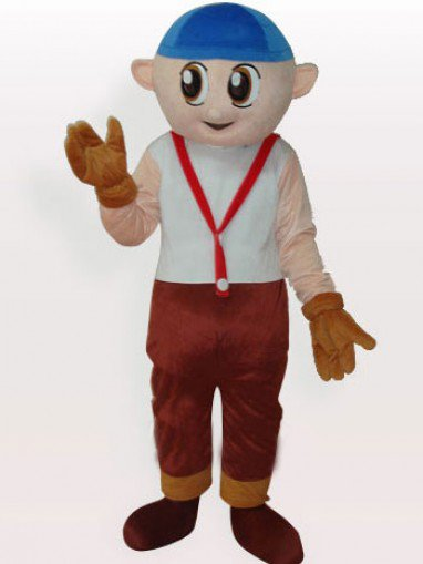 Cheap Boy Short Plush Adult Mascot Costume