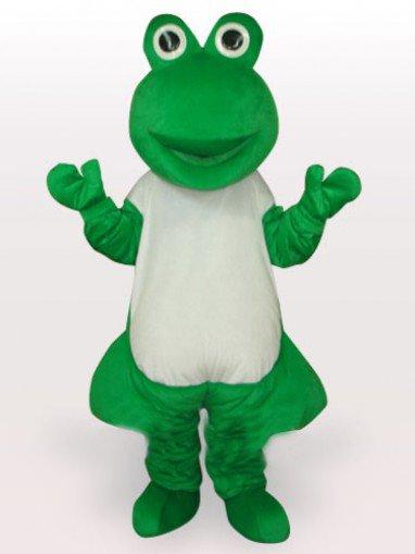 Green Frog Short Plush Adult Mascot Costume