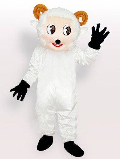 Little Sheep White Adult Mascot Costume