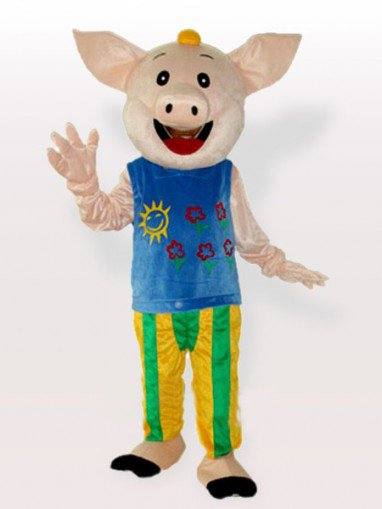 Mr.CoCo Pig Adult Mascot Costume