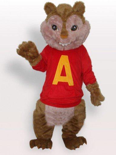 Red Squirrel Plush Adult Mascot Costume