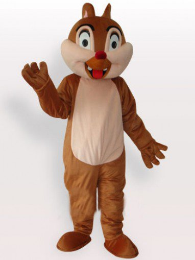 Squirrel Girl Short Plush Adult Mascot Costume