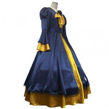 Vocaloid Kagamine Rin Blue And Yellow Halloween Cosplay Costume
